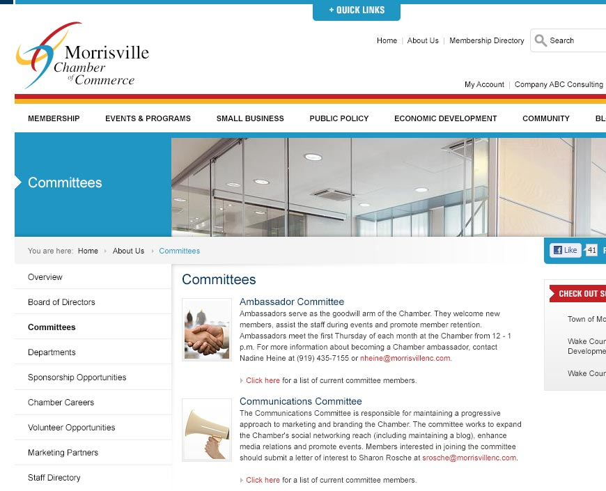 Morrisville Chamber Website